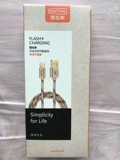 Flash Charging IPhone cable