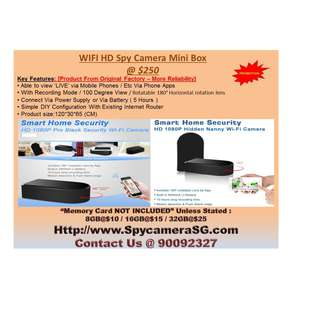 spy camera black box wih rotating len wifi ip