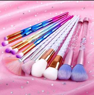 Glittery make up brushes(Preorder)