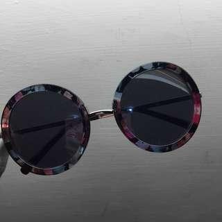 大理石花邊太陽眼鏡墨鏡