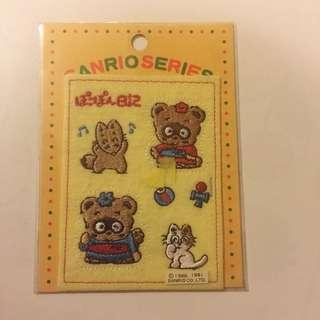 Sanrio vintage 浣熊日記 布章 1991