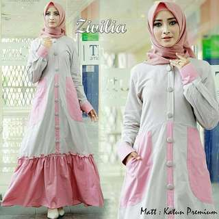 VGC - 0218 - Dress Busana Muslim Zivilia Maxi