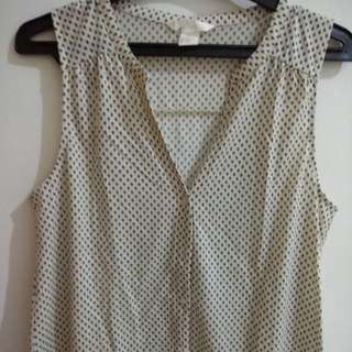 H&M Broken White  Top