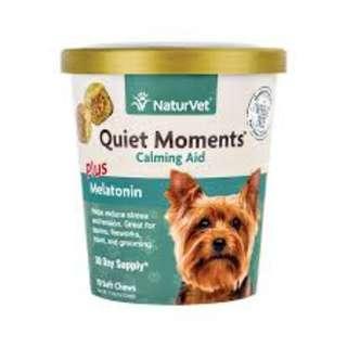 NaturVet Quiet Moments Calming Aid Soft Chews Dog Supplement 70 ct