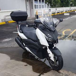 xmax 300 givi tall windshield