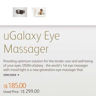 CHEAPEST!! Brand New Unopened OSIM uGalaxy Eye Massager [PRICE FIXED]