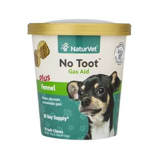 NaturVet No Toot Gas Aid Soft Chews Dog Supplement 70 cts