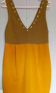 Brown/Mustard dress