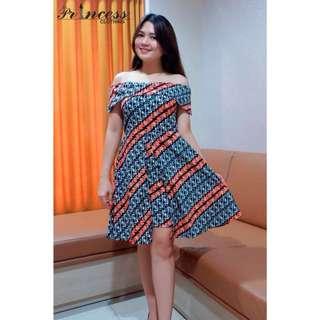 SALSABILA BATIK DRESS  idr 120.000 PREMIUM bahan batik crepe ada tile , ld 94-98, p : 89 warna :blue,black,marron