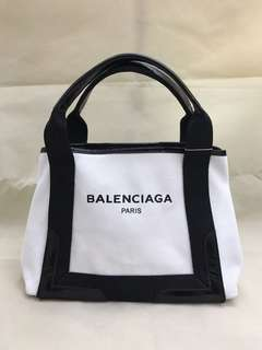 Balenciaga Cabas Canvas Tote Bag