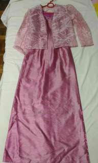 3pc Old Rose Full Gown