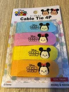 全新 Tsum Tsum Cable Tie 電線紮帶