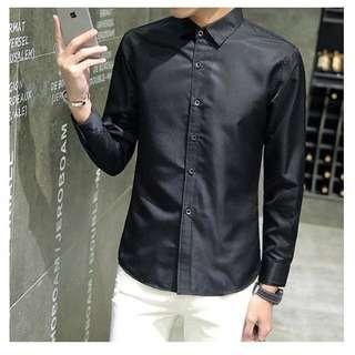 [Preorder] Men's Slim Fit Long Sleeve Shirt