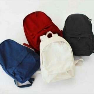 Black simple backpack