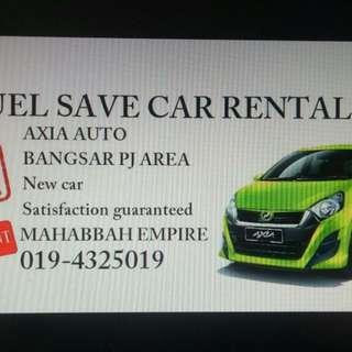 Axia Fuel Save Car Rental, Myvi Viva
