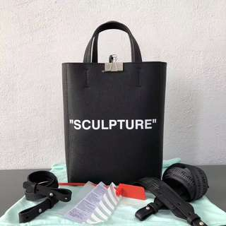 Off white sculpture tote bag