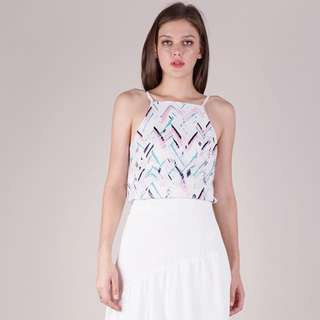 TTR: Shelby Halter Top (Abstract) in L