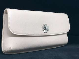 Tory Burch clutch bag nude