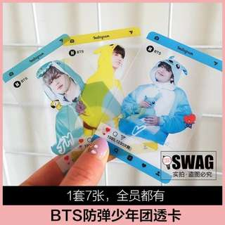 BTS 4TH MUSTER TRANSPARENT CARDS
