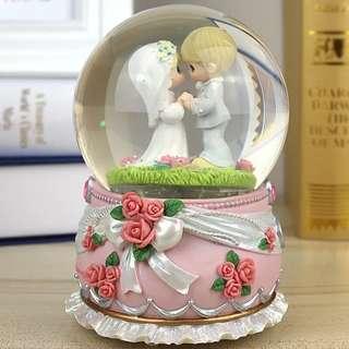 💑👍超靚結婚禮物音樂水晶球