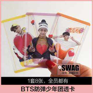 BTS BT21 TRANSPARENT CARDS