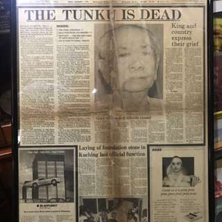 Tunku Newspaper