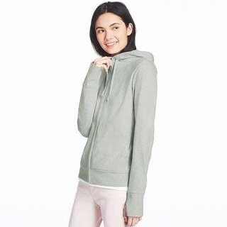INSTOCKS Uniqlo Women UV Cut Black Long Sleeve Full-Zip Hoodie Jacket