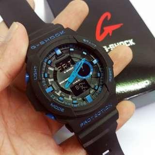 Gshock GA 150 Lis Biru