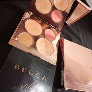 BECCA X Chrissy Teigen Glow Face Palette (top post: BYS, Maybelline, L'oreal )