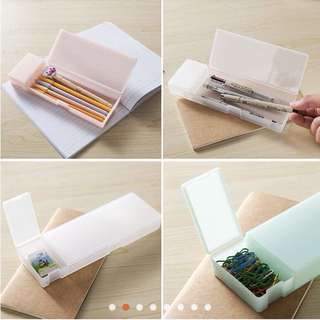 Pencil box transparent