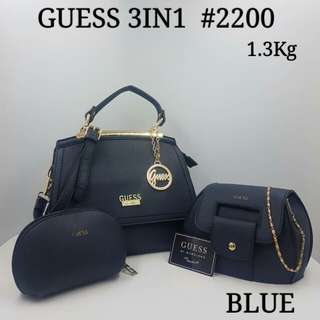 Bonia 3 in 1 Handbag Blue Color