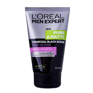 L'OREAL Men Expert Pure & Matte Charcoal Black Scrub