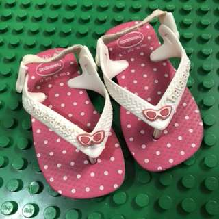 Havaianas Babies Pink Polka Dots Slippers