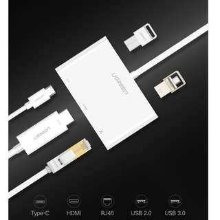 Ugreen USB 3.0 HUB Type-C HDMI VGA RJ45 Adapter
