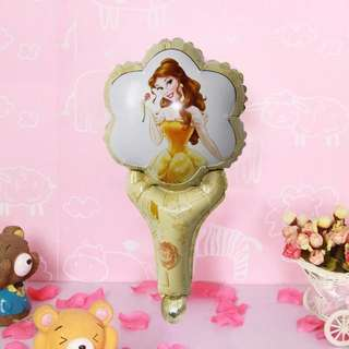 💕 Princess Belle Beauty & The Beast party supplies - handheld balloon / party gifts