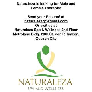 Hiring!!! Male and Female Therapist