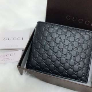 Gucci men leather wallet