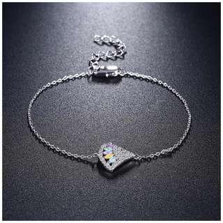 Fan Shape Pendant Mixed Pastel Colors Bracelet SB09001