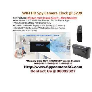 Spy Clock Camera Ip Wifi