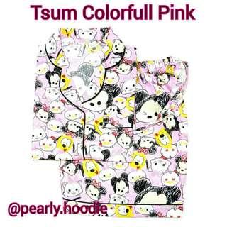 Piyama Taum Colorfull Pink