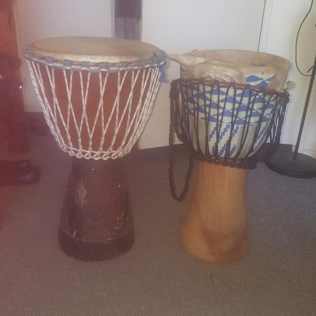 2 X Bongo Drums (1 broken)