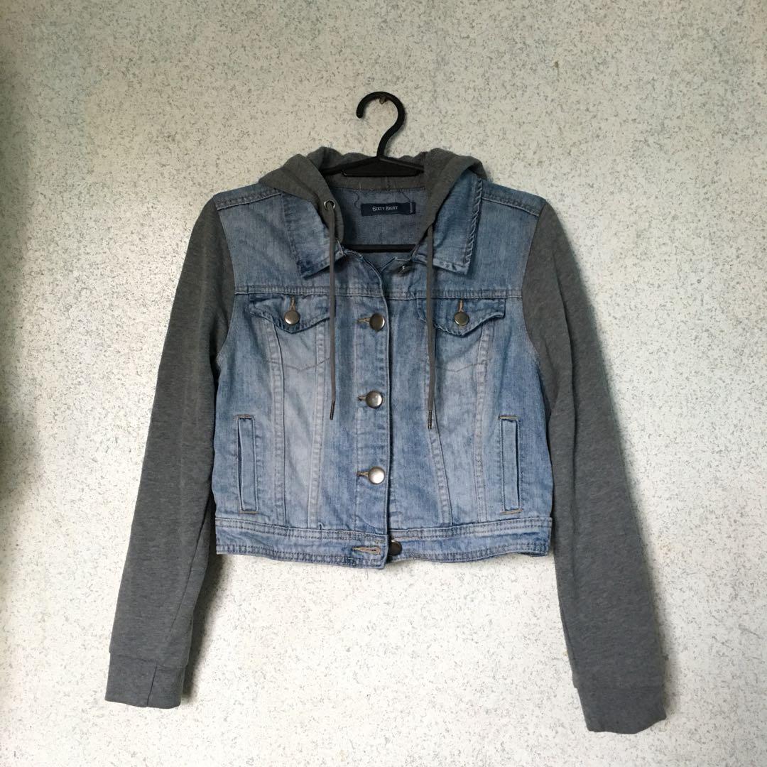 6ixty Eight denim hoodie jacket