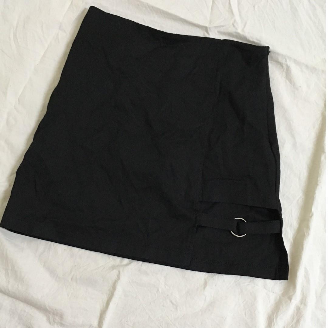 黑色窄裙綁腿暗黑