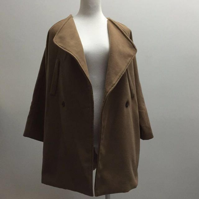 韓國翻領大衣外套