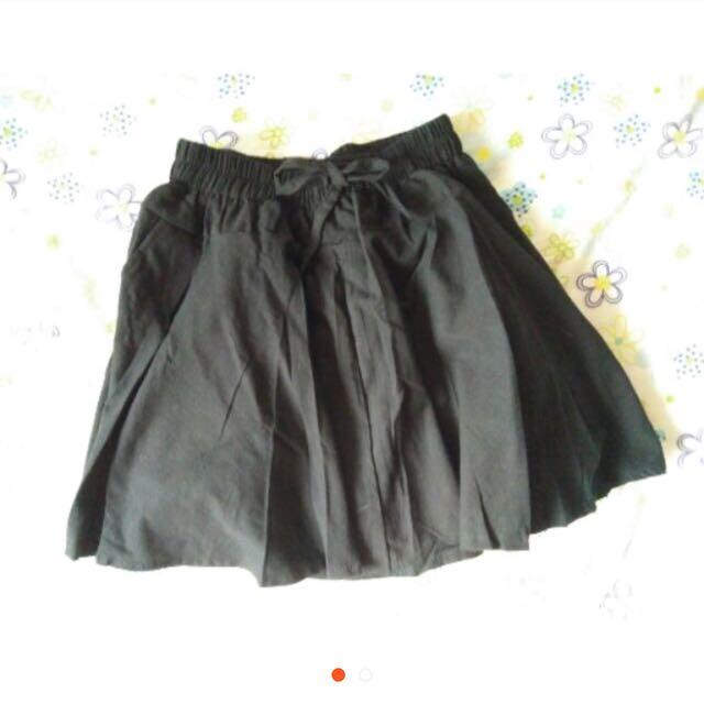 黑色 蝴蝶結 裙子 短裙