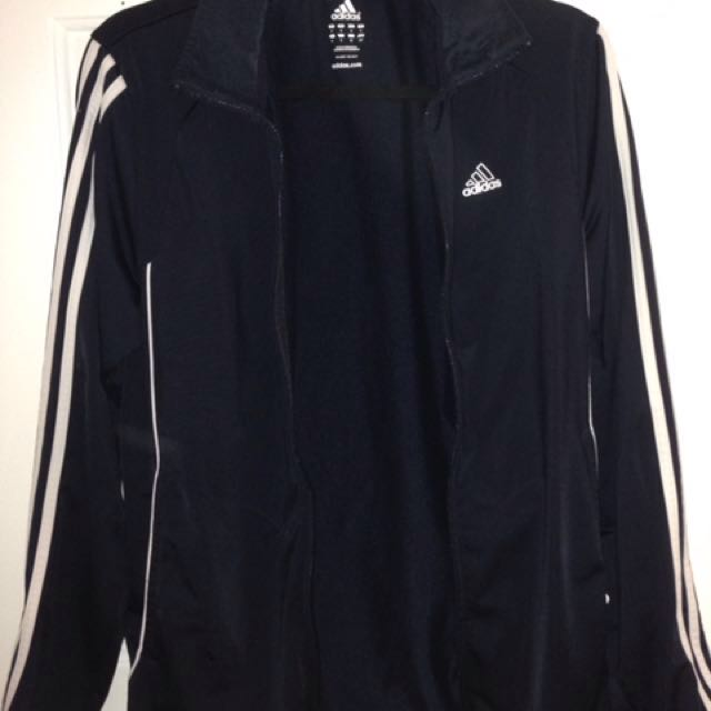 Adidas navy blue zip up