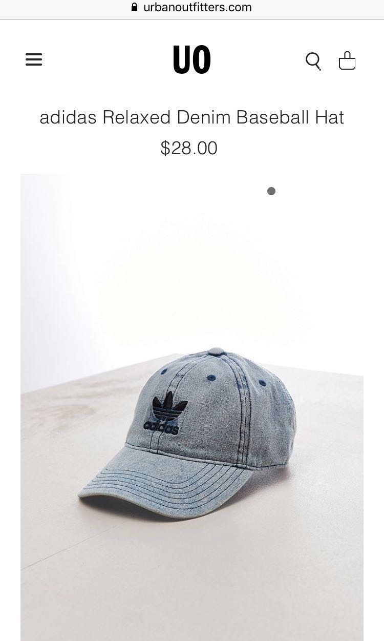 302d1cde adidas Relaxed Denim Baseball Hat, Women's Fashion, Accessories on ...