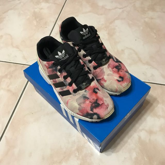Adidas ZX FLUX 花花粉色/范冰冰款