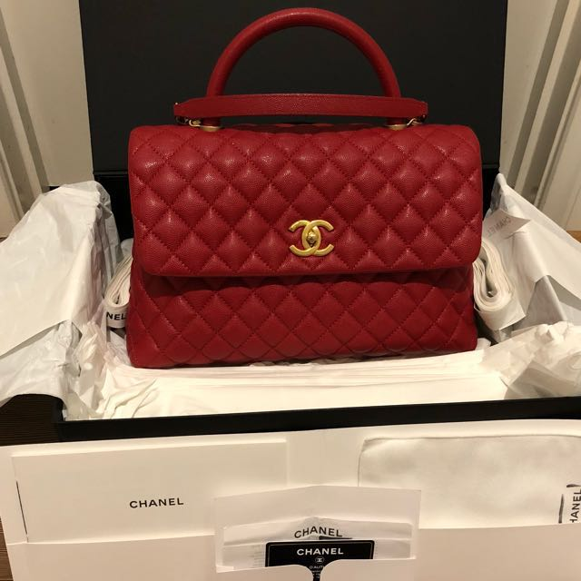 Authentic Chanel Coco Handle Medium