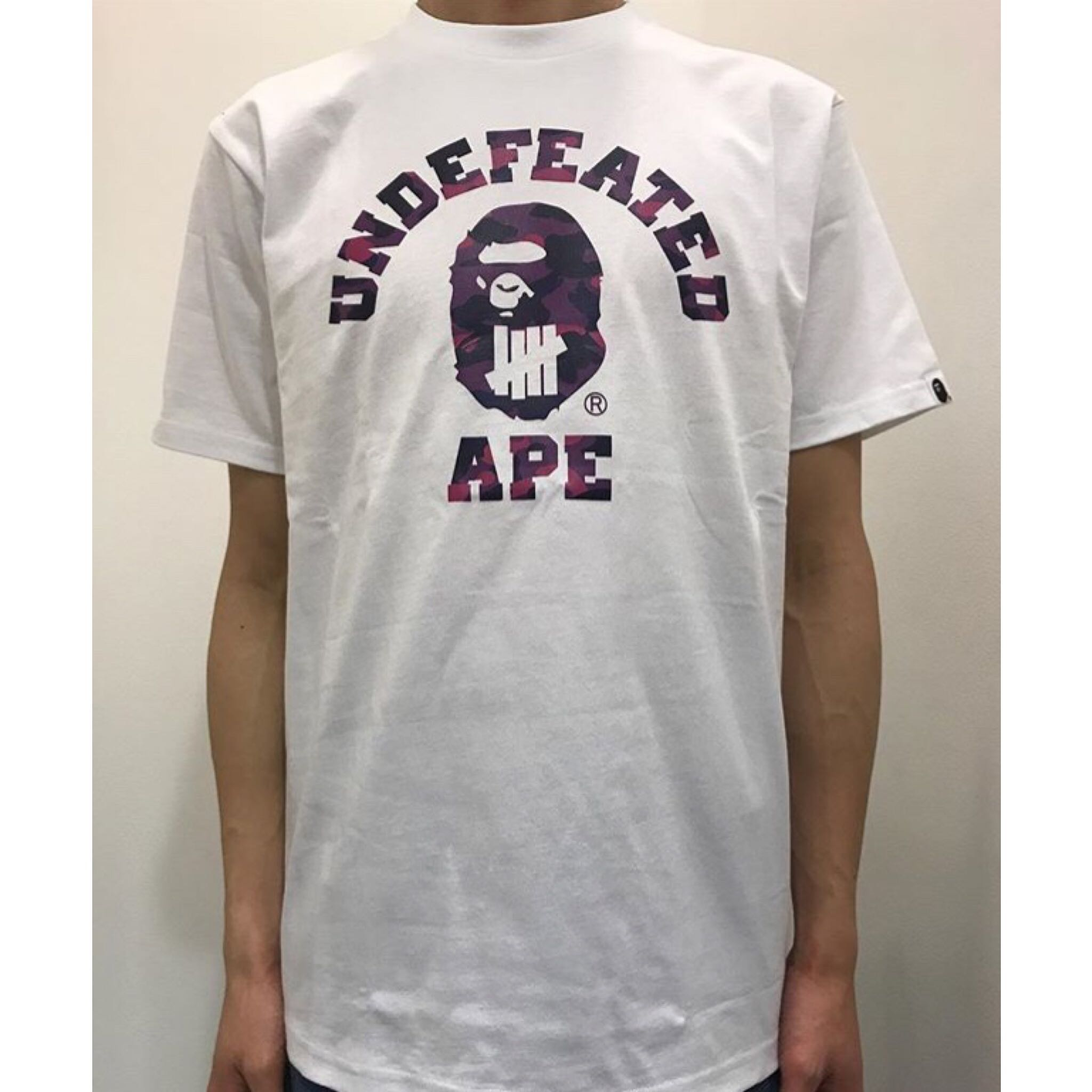 9c646cdb6 BAPE X UNDEFEATED COLOR CAMO COLLEGE TEE, Men's Fashion, Clothes on ...